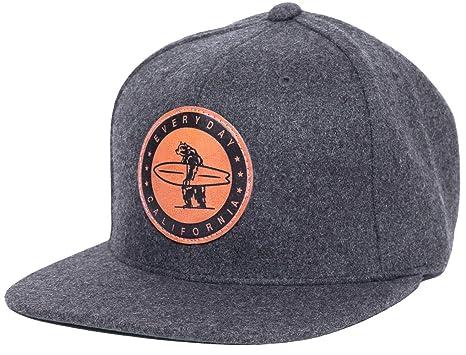 Everyday California  Spreckels  Snapback Slate Grey Surf Hat - Flat Brim Baseball  Cap With 8ded8004f0b3