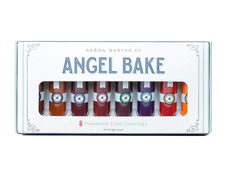 Angel Bake Powdered Food Coloring Set - 8 Vibrant Colors.
