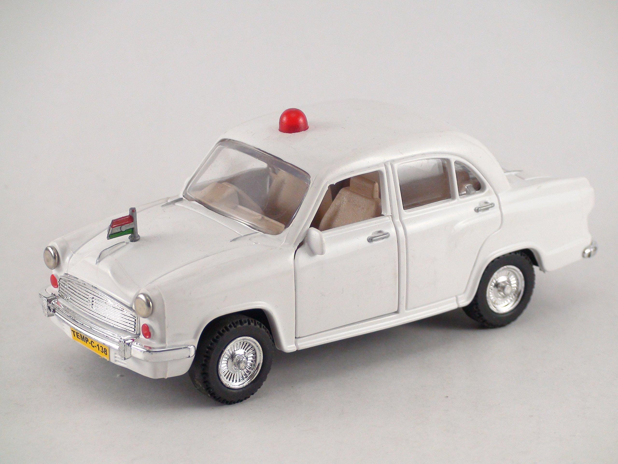 Centy Toys Classic Of Ambassador Car ( Moris Oxford)-Kidsshub 13.3 X 5.3 X 5 cm, Weight:100gms White - VIP Model product image