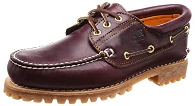 24f626dfd Timberland Men s s 3 Eye Classic Lug Outsole Boat Shoe  Amazon.co.uk ...
