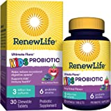 Renew life Kids Chewable Daily Probiotics – 3 Billion CFU - Berry Flavor – Digestive and Immune Support, Gluten, Dairy & Soy