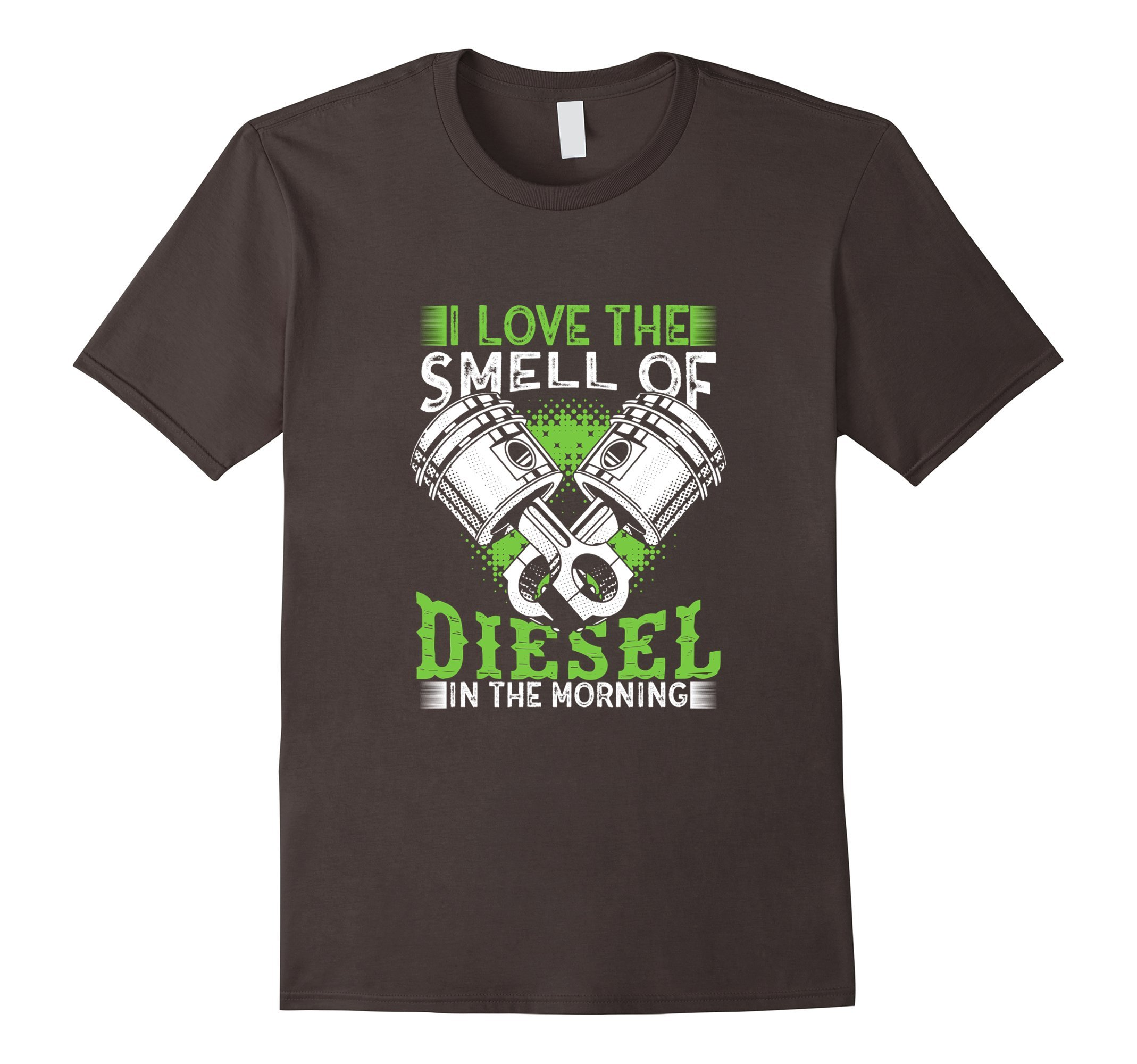 Mens I Love the Smell of Diesel in the Morning Truck Driver Shirt Large Asphalt by Diesel (Image #1)