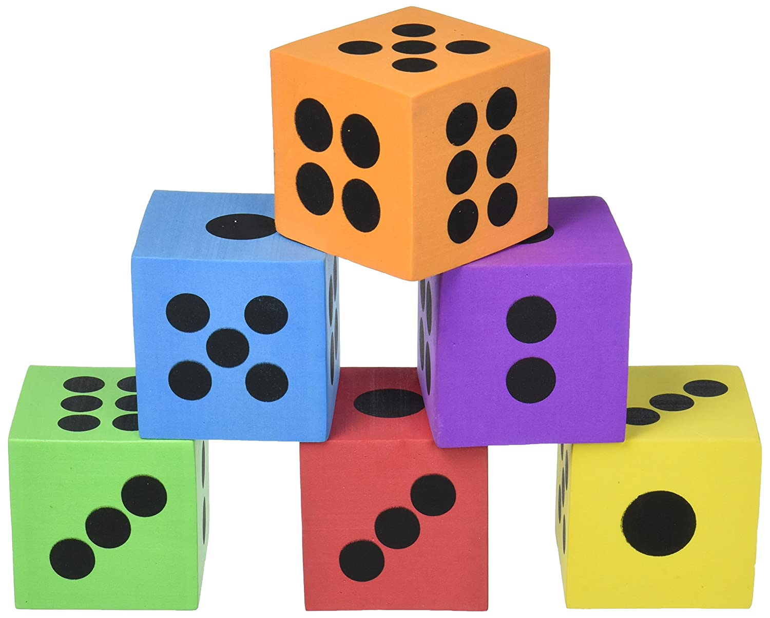 Foam Dice Pack of 12: Amazon.es: Juguetes y juegos