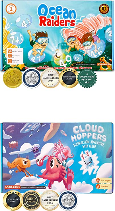 LogicRoots Math Board Games Bundle of Addition and Subtraction Games