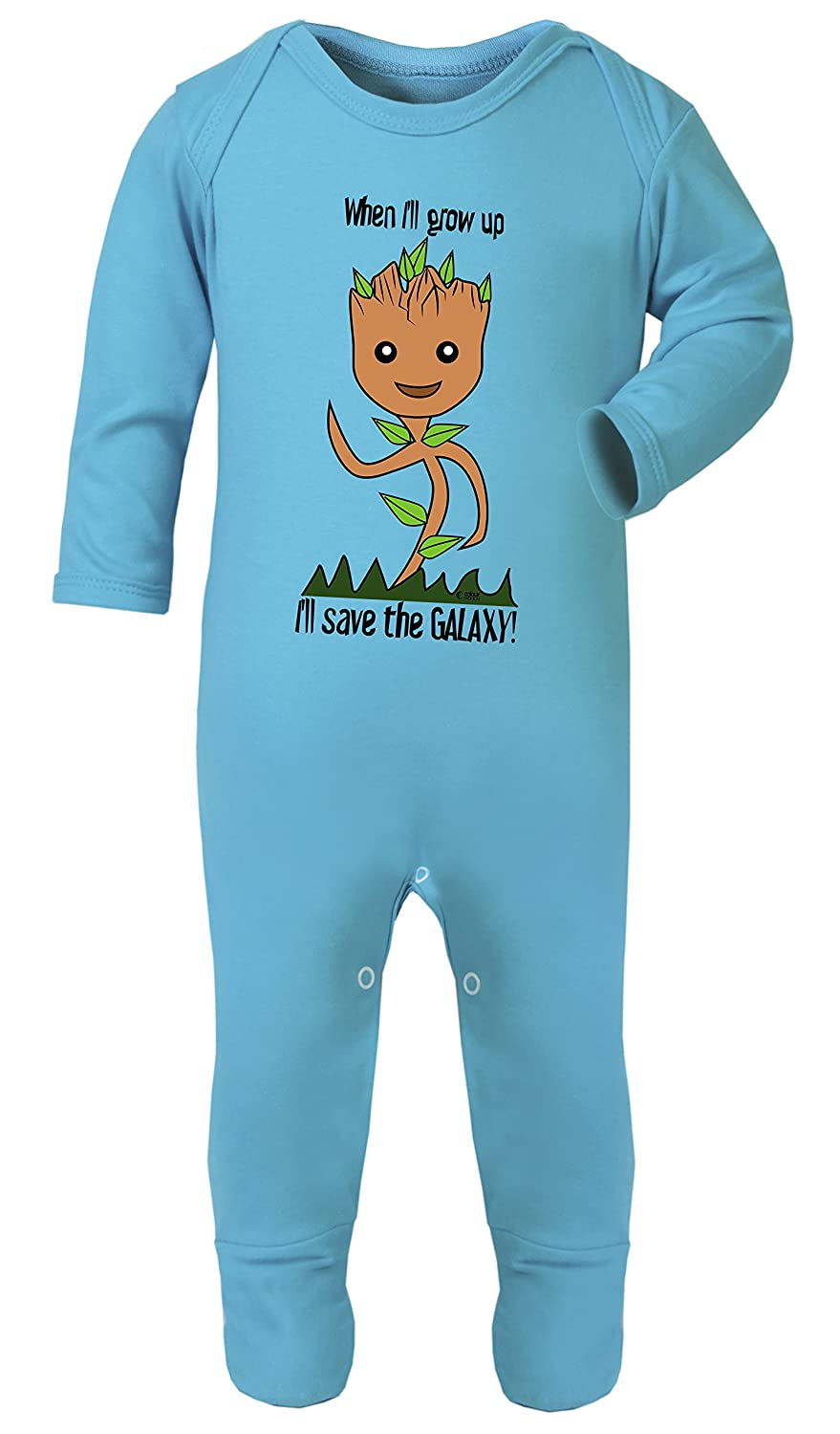 Baby Footed Pajamas Hypoallergenic Certified Colour Fashion Baby Groot Ill Save The Galaxy