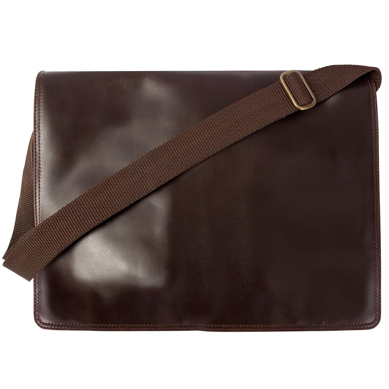 Canyon Outback Leather CY150B Nine Mile Canyon Leather Flapover Messenger Bag, Brown B00KFUBAXQ