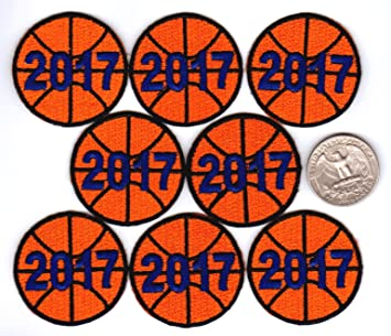 "New Approximately 1.5"" Diameter Basketball Appliqué Iron On Patch"