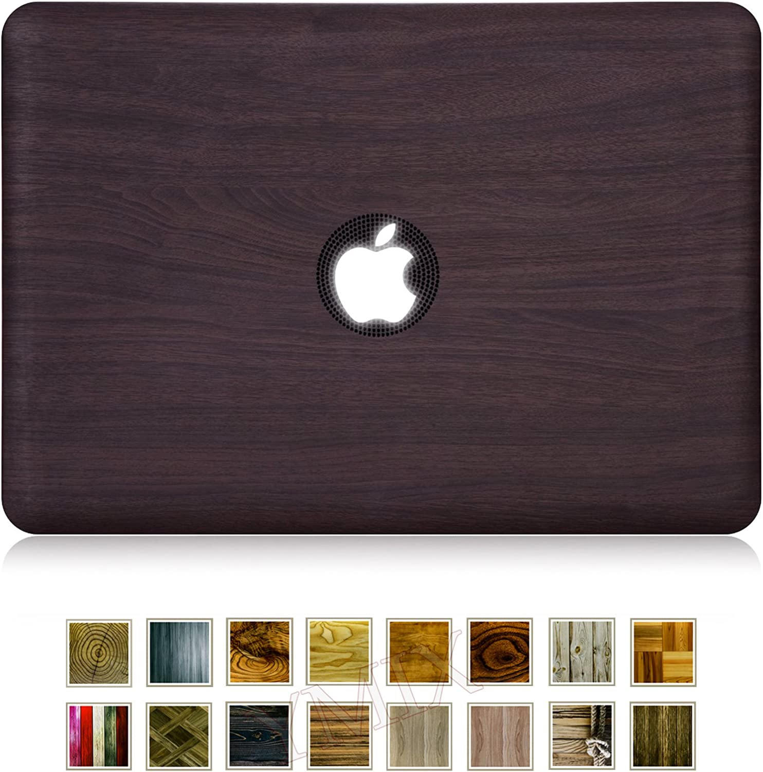 Funut Compatible with MacBook 12 inch Case 2015-2017 Release A1534/A1931, Cute Hard Shell Protective Case, Smooth Matte Finish Protective Cover for MacBook 12 Inch Case A1534/A1931(Wood Grain)
