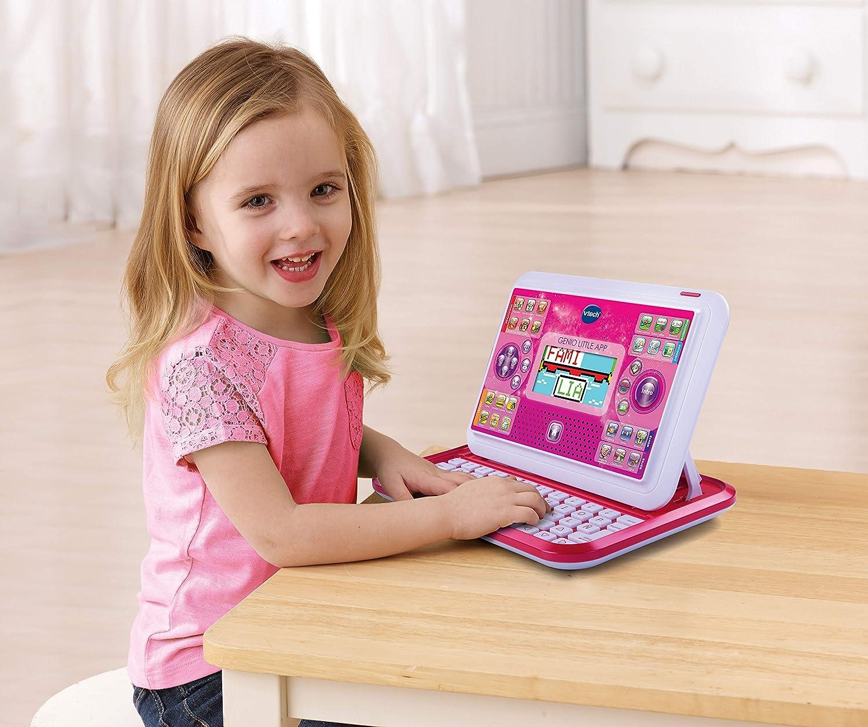 Couleur Rose Langue espagnole VTech 3480-155557 Little Genius App Tablette /éducative pour Enfants