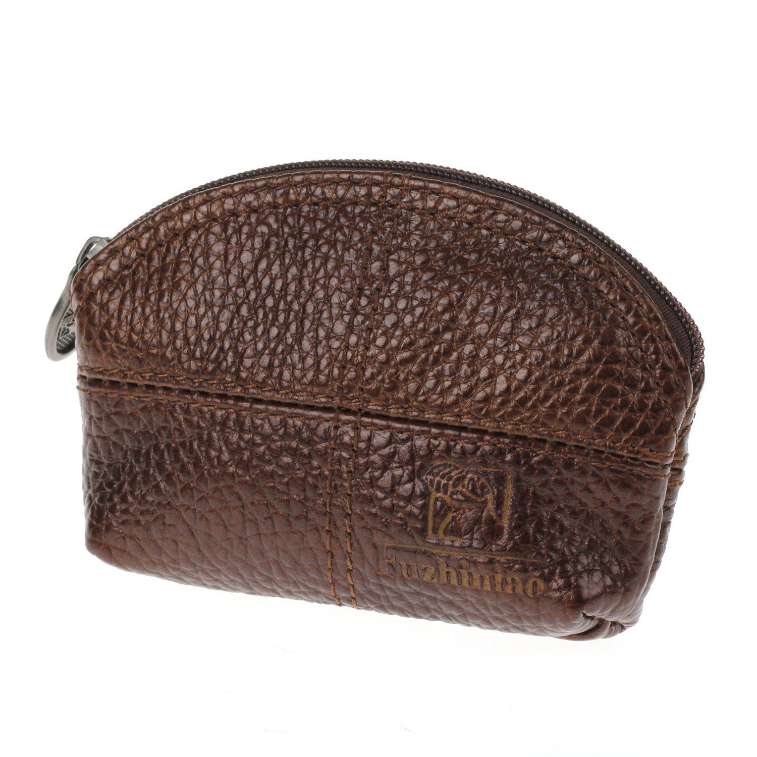 Women Genuine Leather Change Purse Mini Wallet Key Pouch Coin Bag Gift In Brown