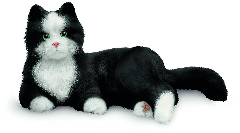 JOY FOR ALL Ageless Innovation Companion Pets | Black & White Tuxedo Cat | Lifelike & Realistic