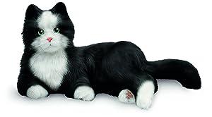 JOY FOR ALL Ageless Innovation Companion Pets   Black & White Tuxedo Cat   Lifelike & Realistic