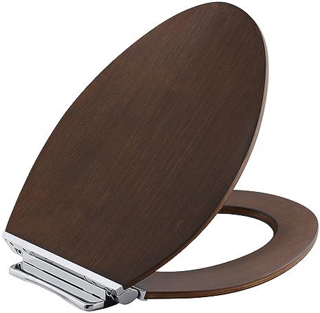 Sensational Kohler K 4761 Cp Law Avantis Quiet Close Elongated Toilet Seat With Quick Release Polished Chrome Metal Hinges Light Antique Walnut Beatyapartments Chair Design Images Beatyapartmentscom