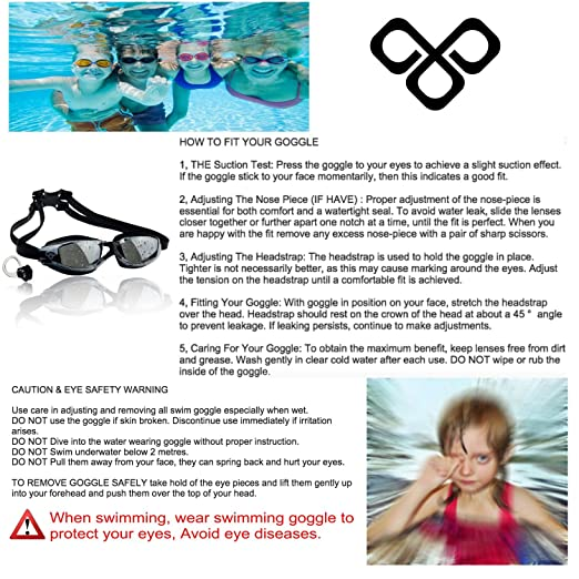 swimming goggles over glasses  Amazon.com : [Premium] BEST VALUE Mirrored Anti Fog Swimming ...