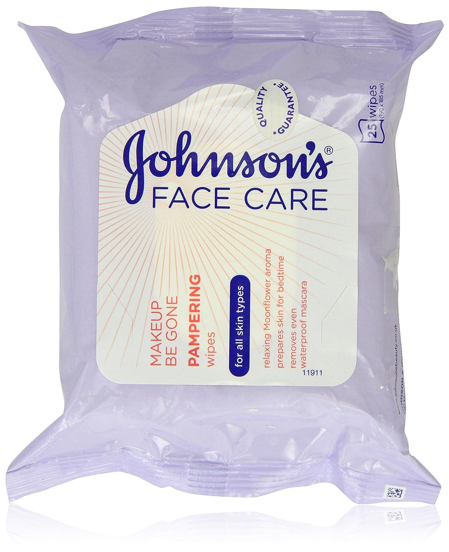 Johnson s cara cuidado maquillaje Be Gone mimos Wipes, 25 toallitas: Amazon.es: Belleza