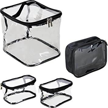 Amazon.com: Casemetic Pc06 - Juego de 4 bolsas transparentes ...