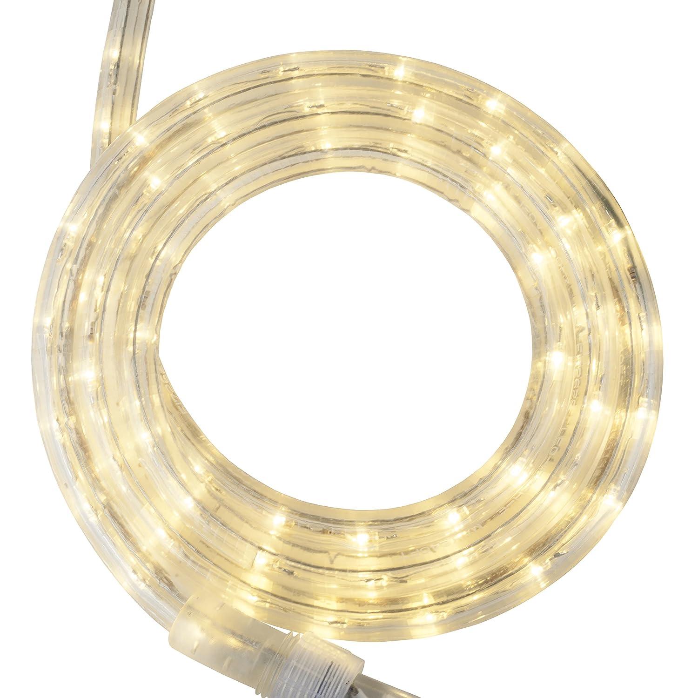 Wintergreen Lighting LED Rope Light, LED Flexible Light Rope String Light Outdoor – LED Light Rope Bedroom Portable LED Light Rope, 120V, ½ Inch, 2-Wire (18 ft, Warm White)