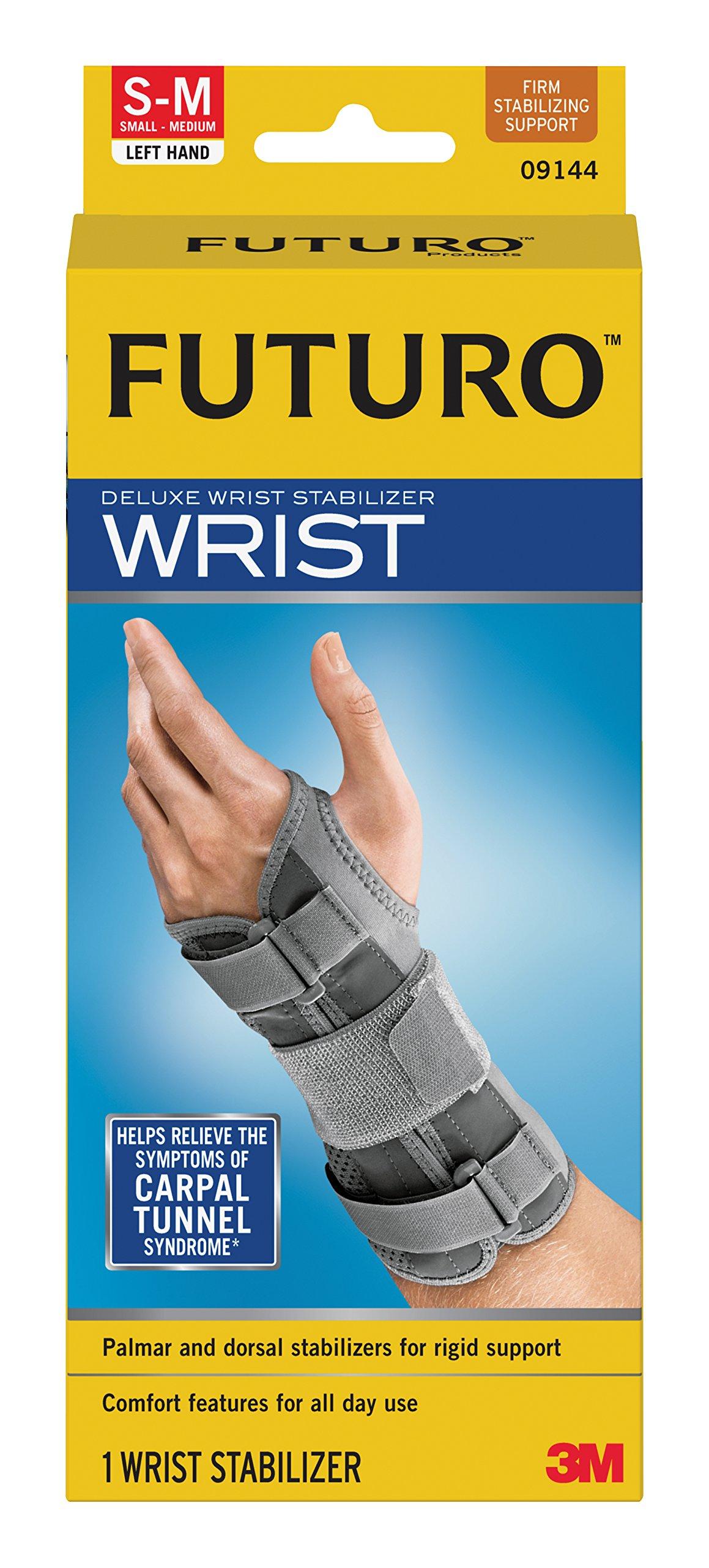 Futuro Deluxe Wrist Stabilizer Left Hand Small-Medium, 09144ENT, Pack of 6