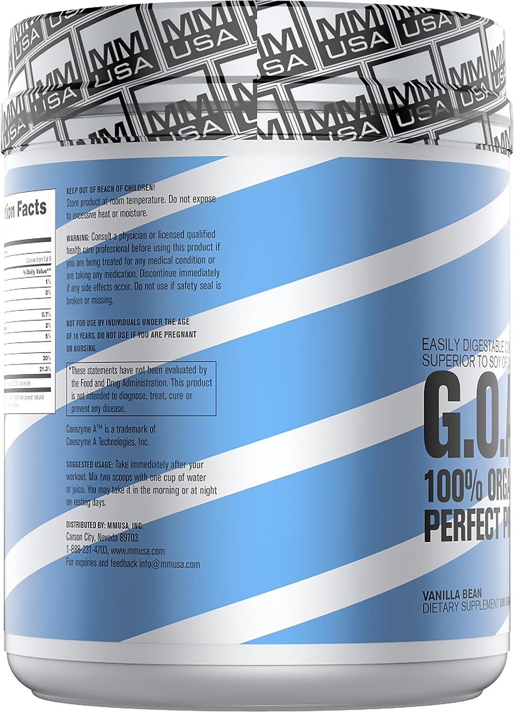 MMUSA ORGANIC GOAT PERFECT PROTEIN FORMULA, 500 g. Vanilla Bean