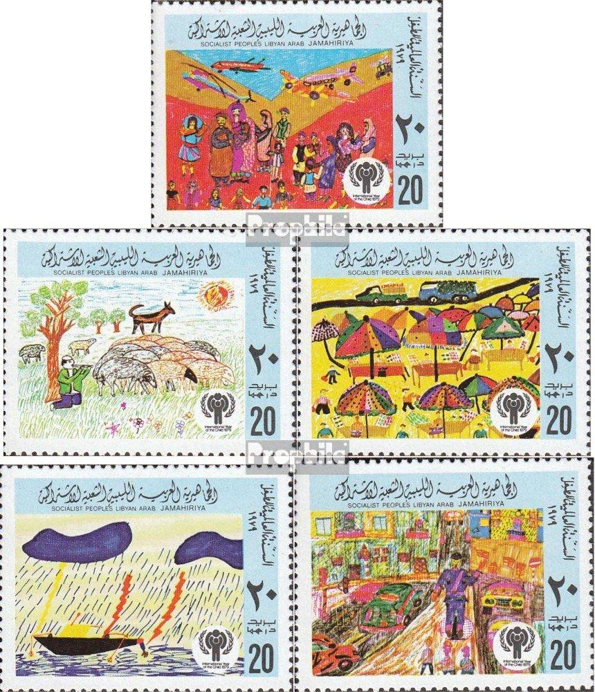 Prophila Collection Libia 717A-721A Francobolli per i Collezionisti 1979 Disegni dei Bambini Completa Edizione