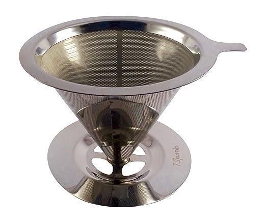 Filtro de café de acero inoxidable, resistente, reutilizable y ...