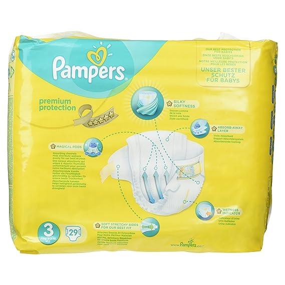 Pampers Premium pañales 5 - 9 kg tamaño 3 29 piezas: Amazon.es: Salud y cuidado personal