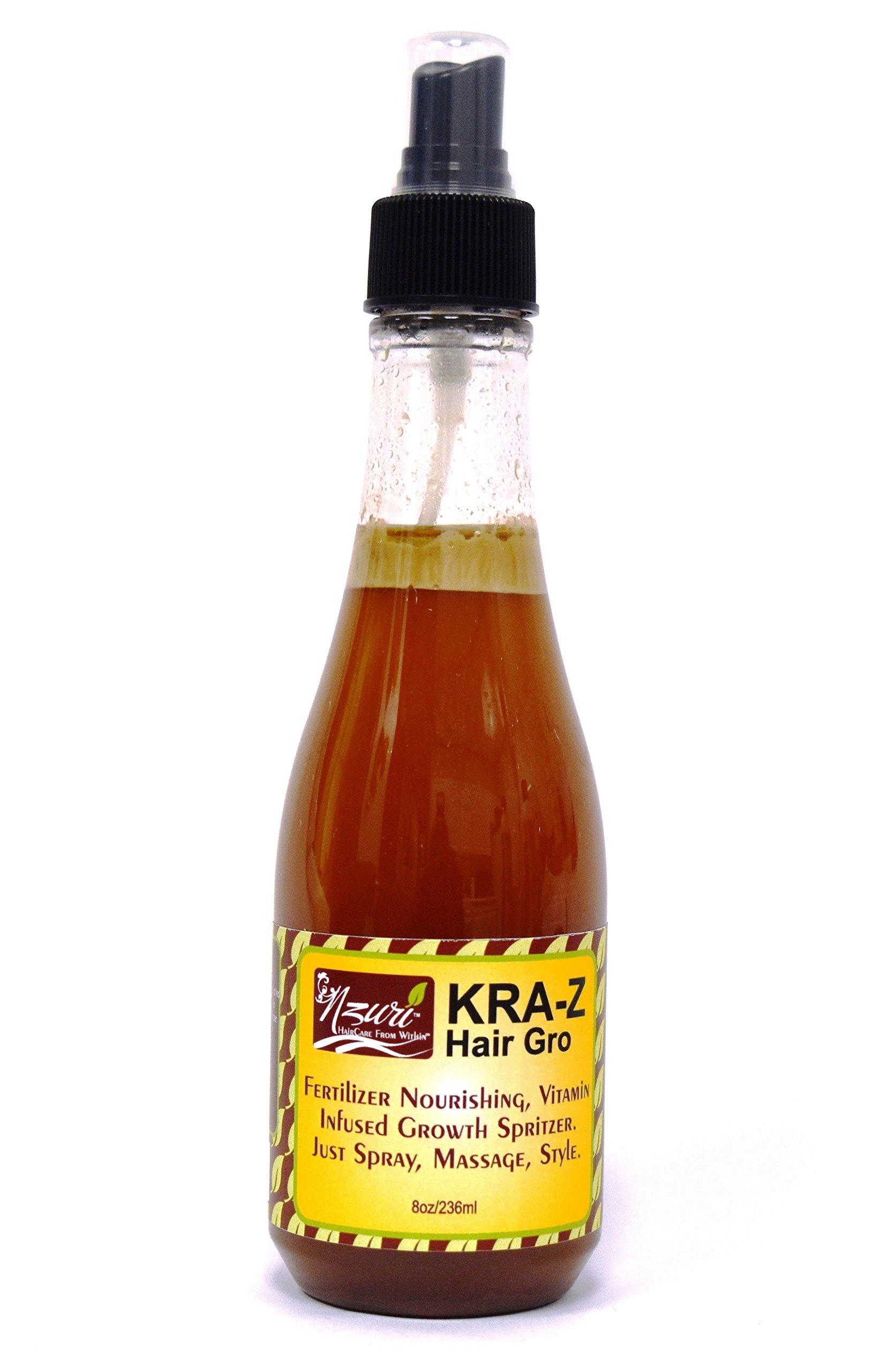 Nzuri Kra-z Hair Gro Fertilizer Nourishing, Vitamin Infused Growth Spritzer 8oz