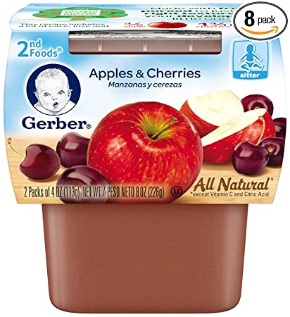 Gerber 2nd Foods Fruits - Apple Cherry - 4 oz - 2 ct - 8 pk