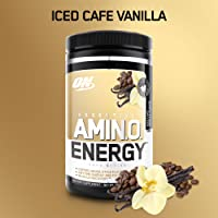 OPTIMUM NUTRITION ESSENTIAL AMINO ENERGY, Iced Vanilla Latte, Preworkout and Essential Amino Acids with Green Tea and Green Coffee Extract, 30 Servings