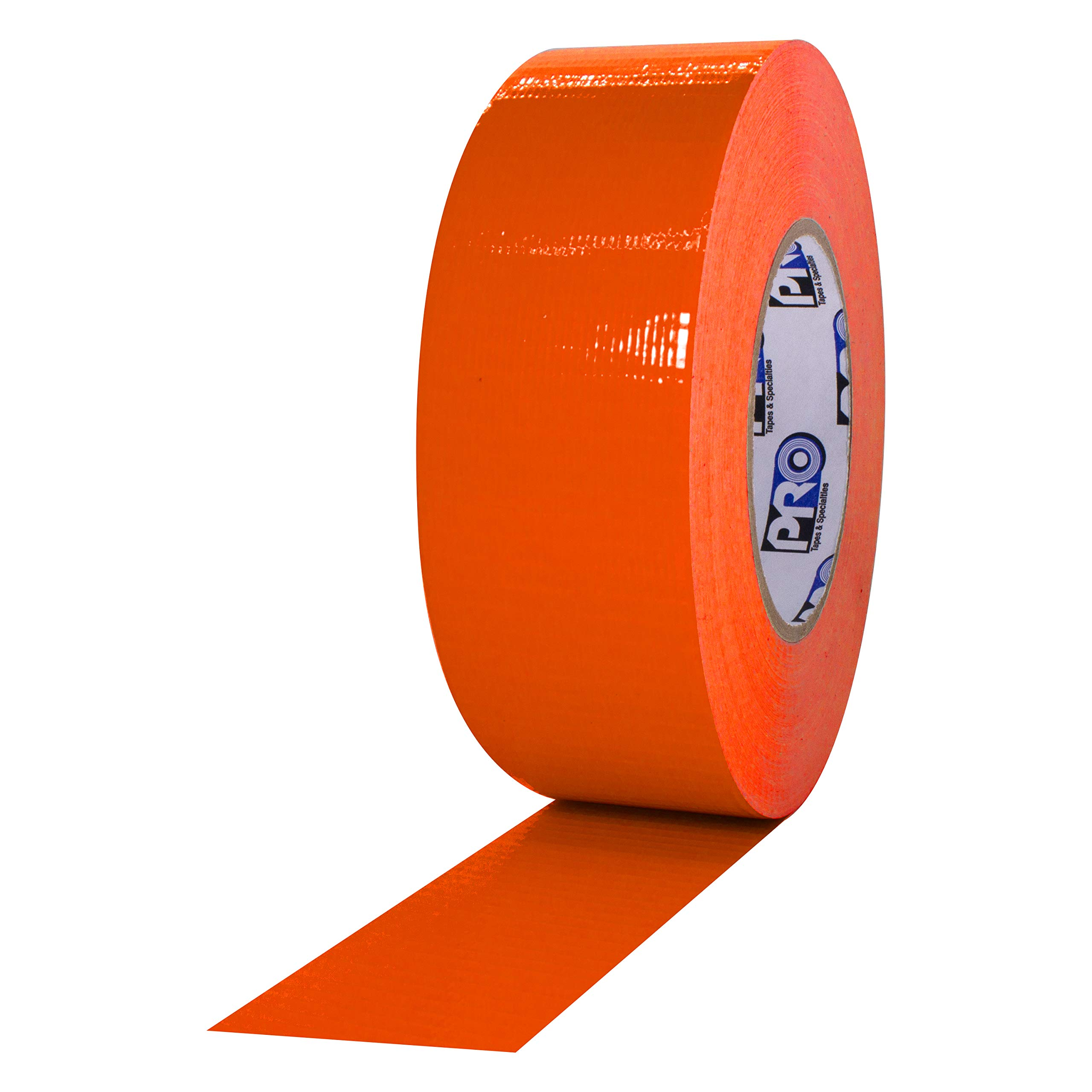 """ProTapes Pro Duct 139 PE-Coated Cloth Fluorescent Specialty Grade Duct Tape, 60 yds Length x 2"""" Width, Fluorescent Orange (Pack of 1)"""