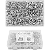 Yuhtech Pop klinknagels, 500 Stks Aluminium Bind Klinknagels M3.2 M4 M5 Pop klinknagels Assortiment Aluminium…