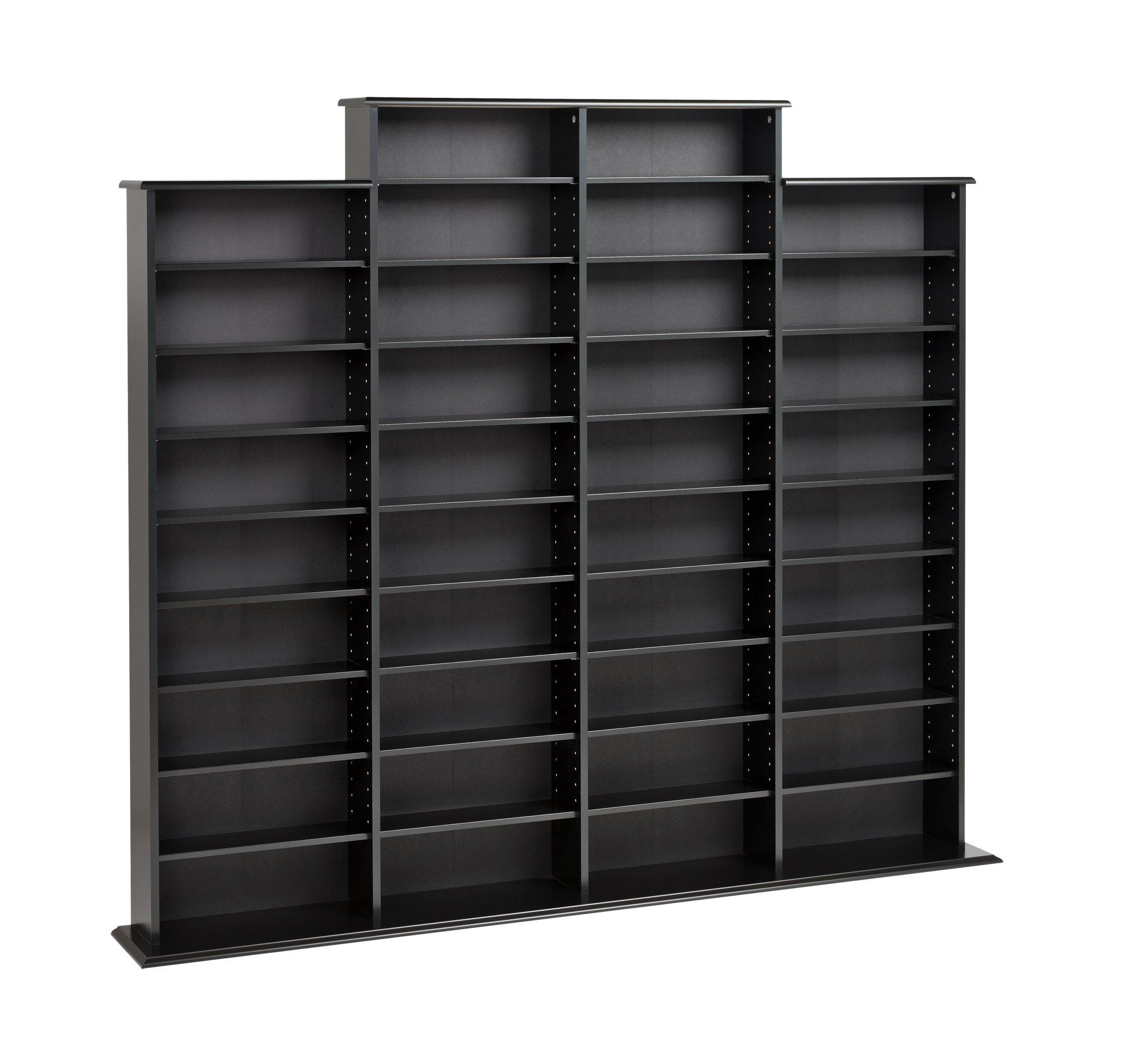 Prepac Quad Width Wall  Storage Cabinet, Black by Prepac