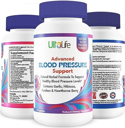 Best HIGH Blood Pressure Pills to Lower BP Naturally - Advanced Hypertension Supplement w/Potent Vitamins & Herbs - Garlic, Hawthorn Berry & Forskolin for Stress Reduction & Heart Health