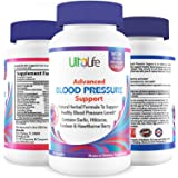 BEST HIGH BLOOD PRESSURE PILLS to Lower BP Naturally w/ Potent Vitamins & Herbs Garlic, Hawthorn Berry & Forskolin for Weight Loss, Stress Reduction & Heart Health - Advanced Hypertension Supplements