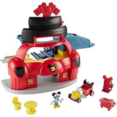 Fisher-Price Disney Mickey & the Roadster Racers, Roadster Racers Garage Playset: Toys & Games