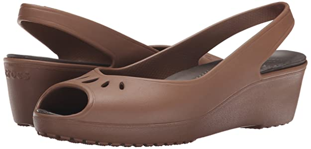 Crocs - Mabyn Mini Wedge Femmes -, EUR: 38.5, Bronze