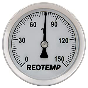 REOTEMP S1-F39 Magnetic Analog Surface Thermometer, 0 to 150 Fahrenheit