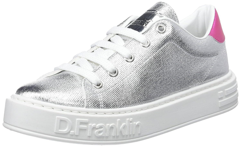 D. Franklin Damen Gumme Metal Sneakers Silber (Silver)