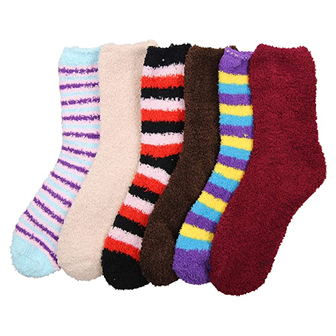 good delicate colors pretty cheap Women's Soft and Warm Fuzzy Sock 12 Packs (One Size Fits Most 13+)