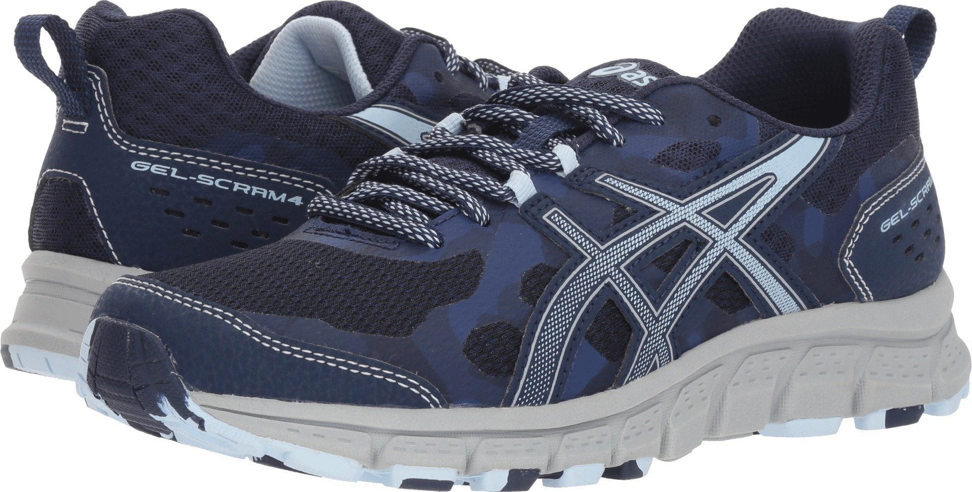 ASICS 1012A039 Women's Gel-Scram 4 Running Shoe, Peacoat/Soft Sky - 5.5 B(M) US by ASICS (Image #1)