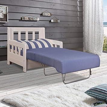 Moebella Schlafsofa Campuso Blau Weiss Sessel Sylt Stoff Sofa Couch
