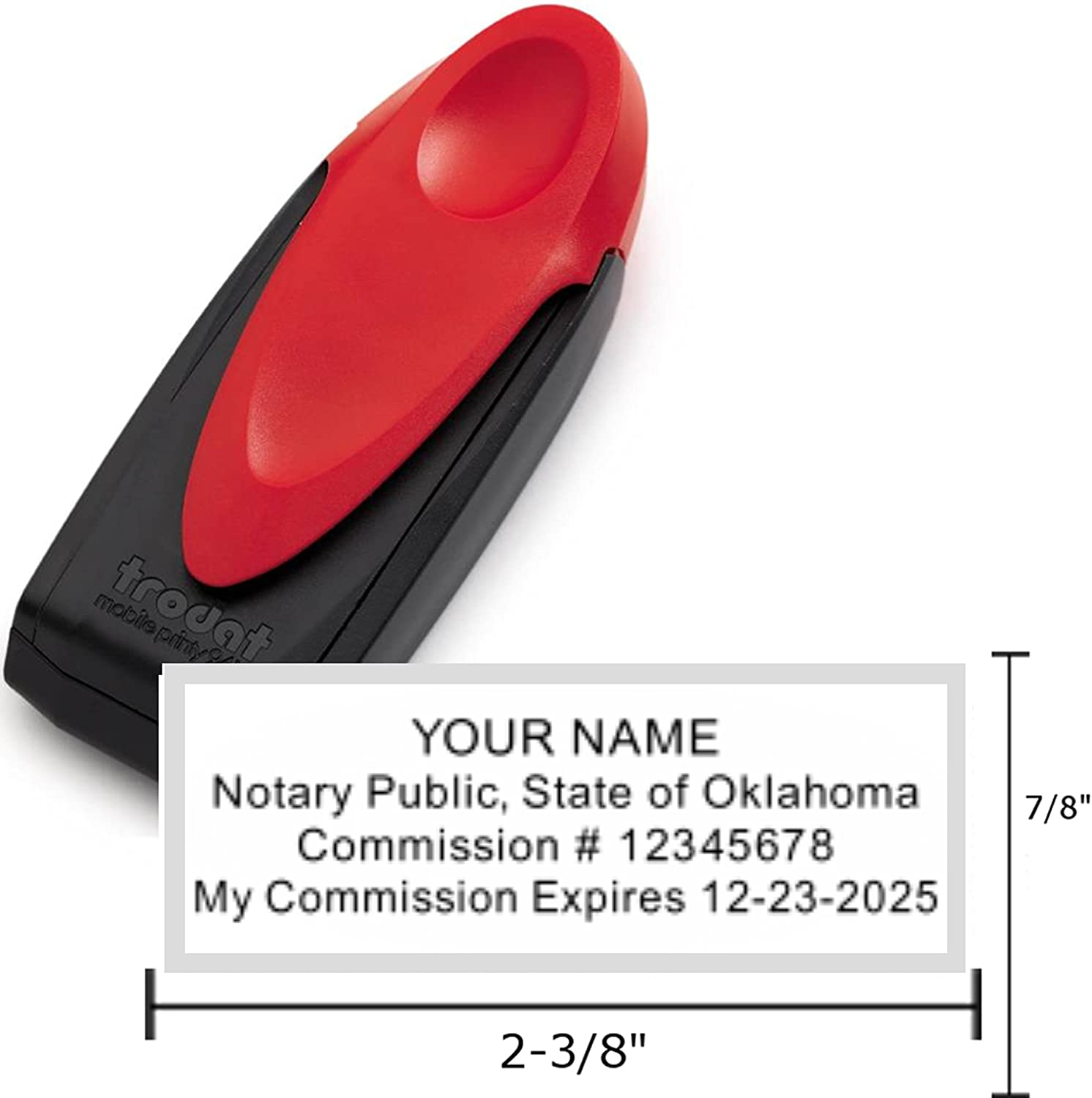 Amazon Com Standard Red Trodat 9413 Mobile Printy Notary