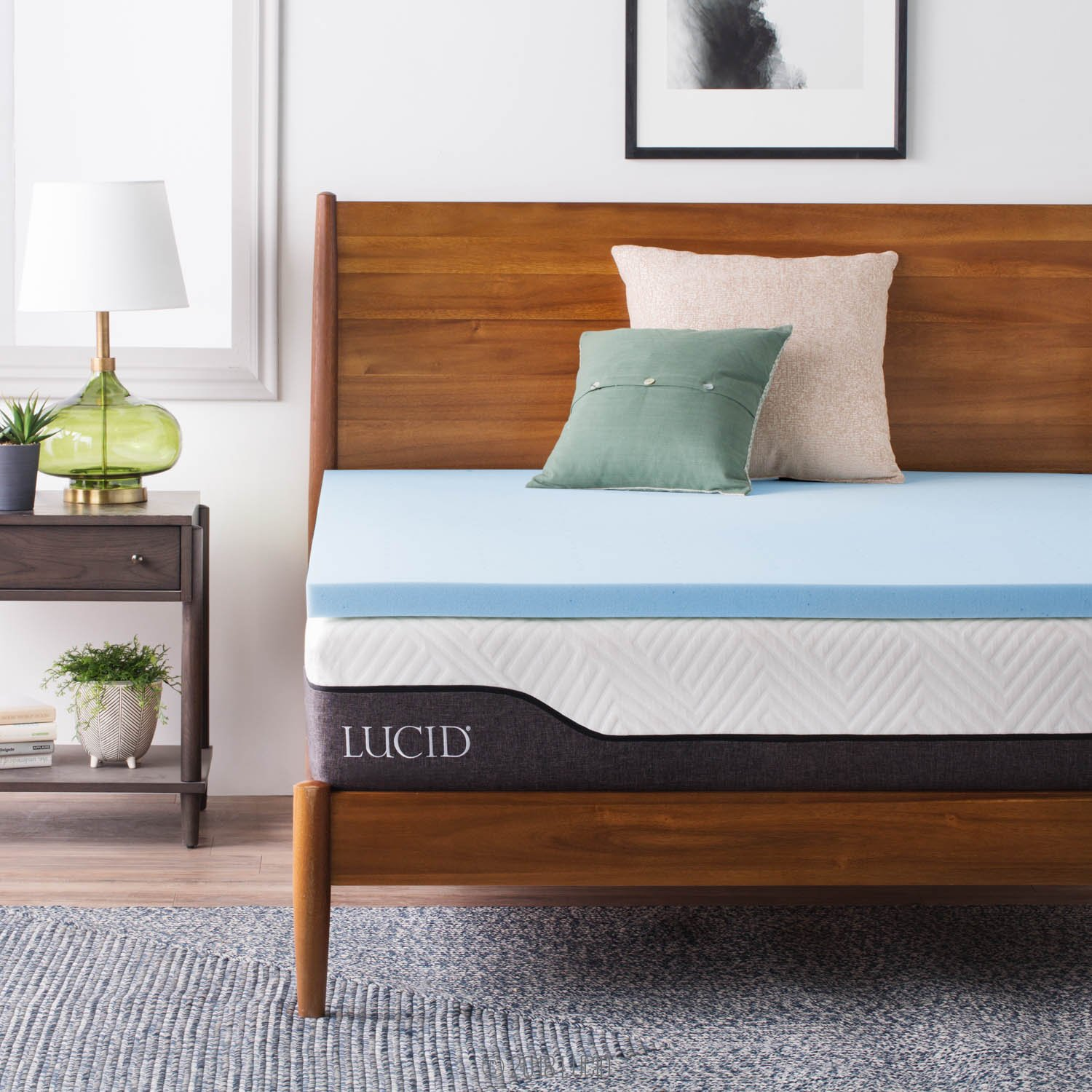 LUCID 2-Inch Gel Infused Memory Foam Mattress Topper - Twin XL