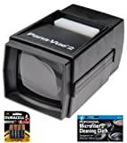 Pana-Vue 2 Illuminated Slide Viewer + AA Batteries + MicroFiber Cleaning Cloth