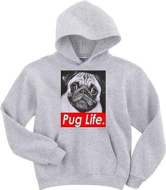 NEW COTTON GREY SWEATSHIRT ALL SIZES Pug