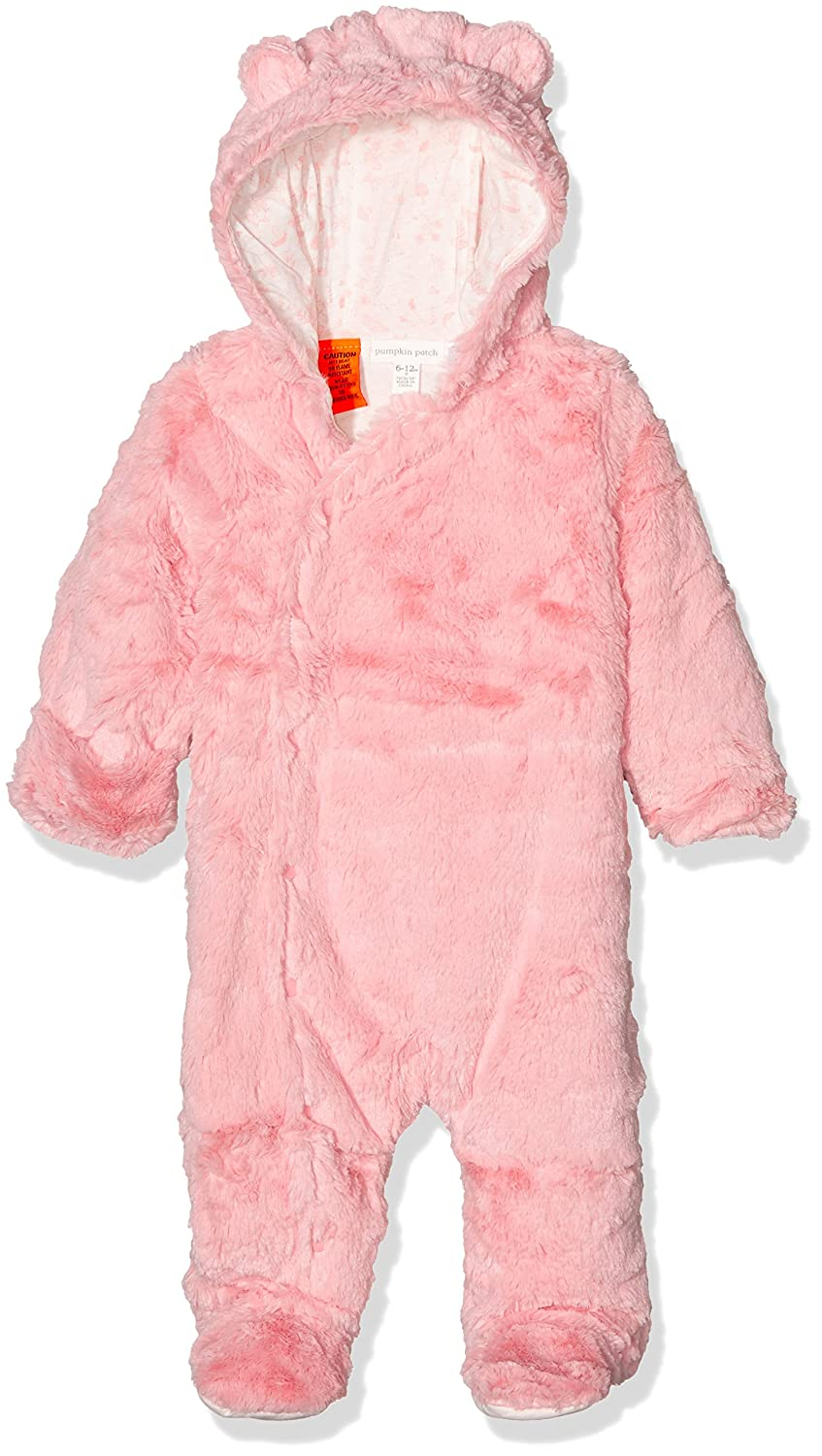 c131fa3bc453 Pumpkin Patch Baby 0-24m Girls Furry All-in-One Footies