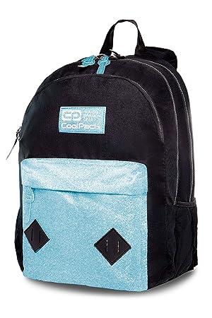 11641e734a594 Prime Rucksack Mädchen Jungen Schulrucksack 24 L Hippie Schultasche Bag  Backpack mehrfarbige Blue Glitter  006