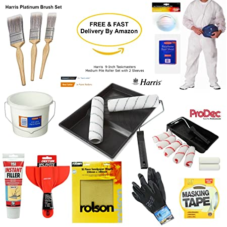 Painting Tools & Decorating Tools, Paint Rollers And Tray Set ...