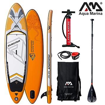 Aqua Marina Magma Sup - Tabla de Paddle Surf (Hinchable, 330 x 81 ...