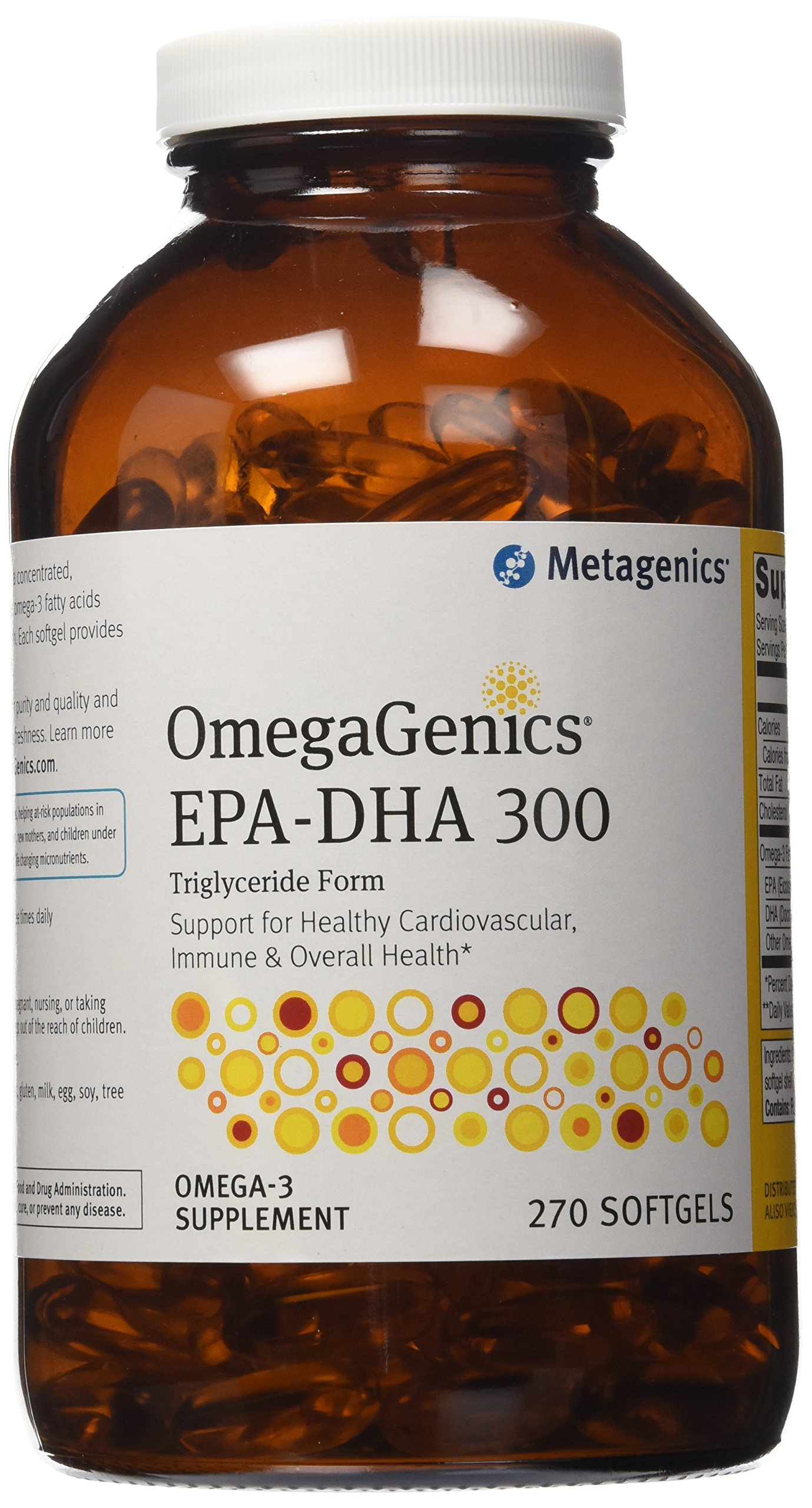 Metagenics EPA-DHA Complex Dietary Supplement, Omega-3, 270 Count